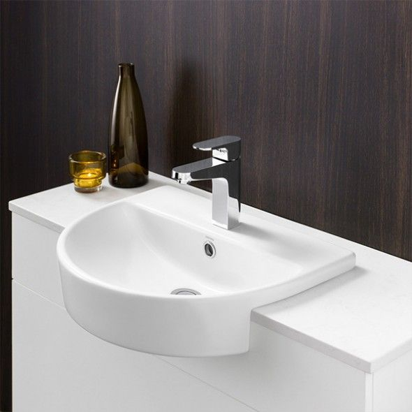 Cosmique Semi Recessed Basin available now at  TheBlueSpace. 21 best Small bathrooms door less walk in images on Pinterest
