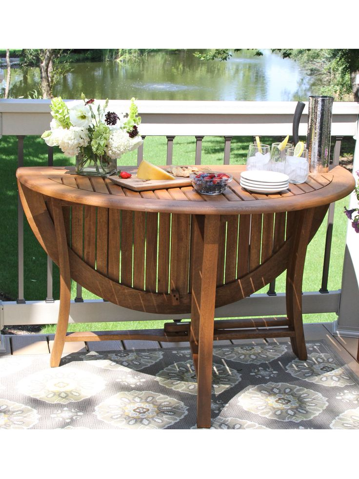 Round Folding Table, Check Out The Stencilling On The Deck Boards Part 68
