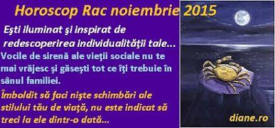 diane.ro: Horoscop Rac noiembrie 2015