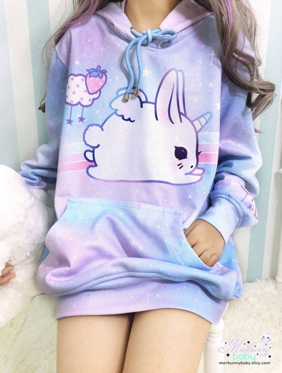 7be1299df1188 Bunicorn - Oversized hoodie - cute unicorn bunny
