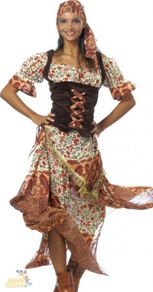 Zigeunerin - Flottes Zigeuner Kleid für Damen, Zigeunerbraut