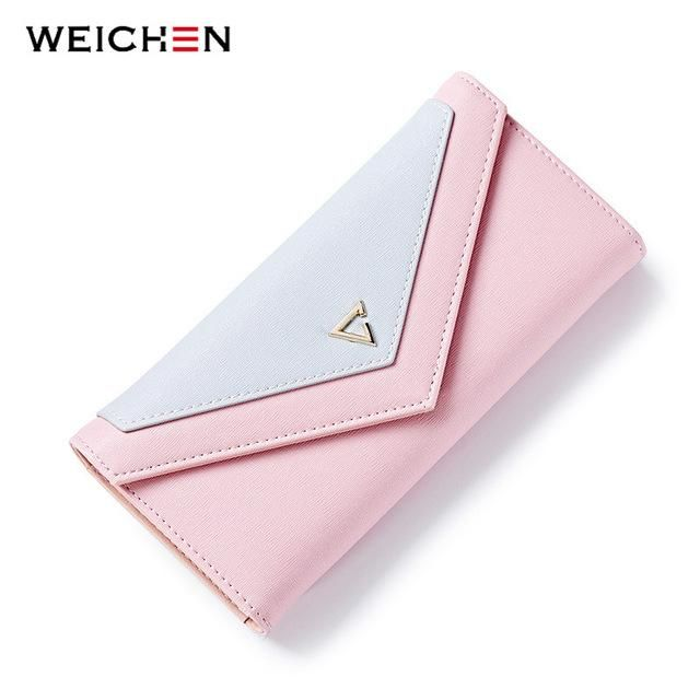 Geometric Envelope Clutch Wallet For Women, PU Leather Hasp Fashion Design Wallet For Phone Money Bags Coin Purse