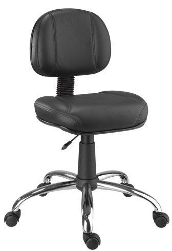 Cadeira Executiva Costurada Cromada Escritorio