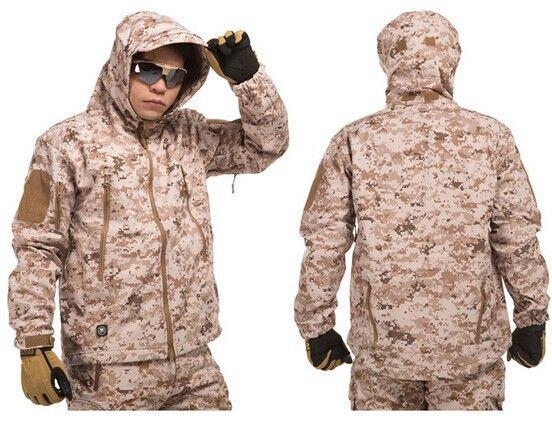 Толстая пустынный камуфляж костюм любители военной одежда военный камуфляж комбинезоны военная форма