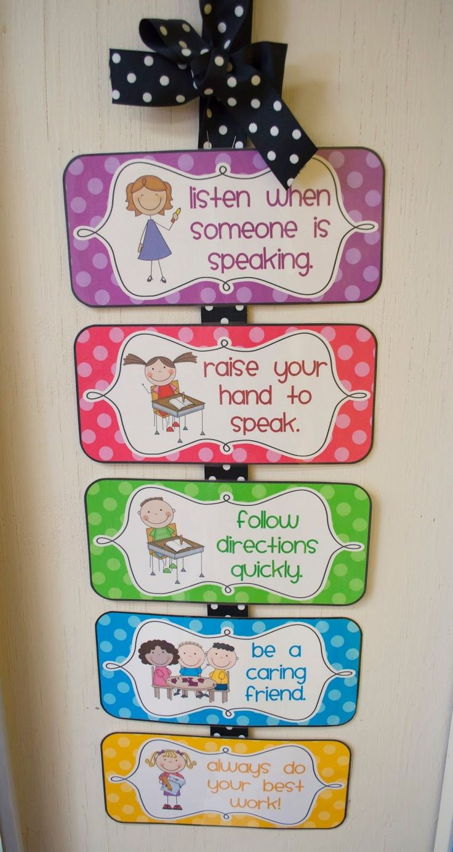 Mrs. Ricca's Kindergarten: Classroom Management {Freebies}