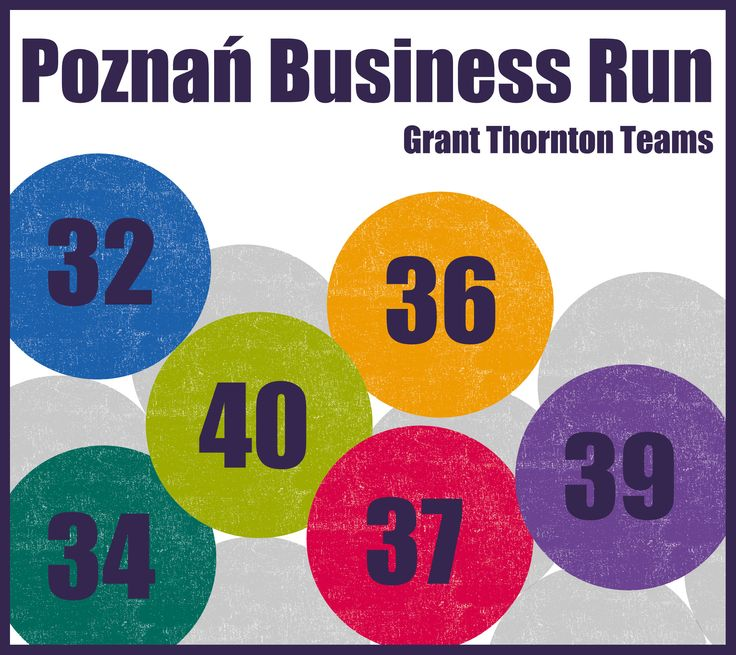 Grant Thornton Teams' lucky numbers from #PoznanBusinessRun | #Charity #Running