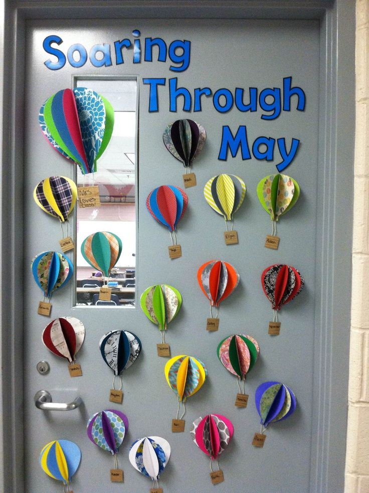 Hot Air Balloons for my classroom door!
