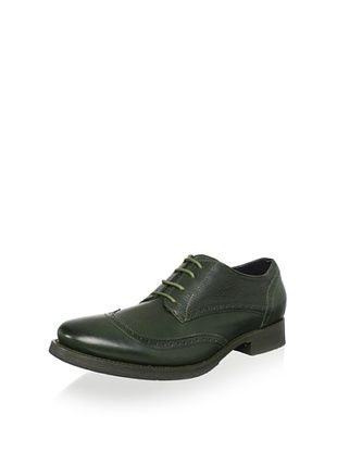 JD Fisk Men's Lucian Oxford (Green Leather)