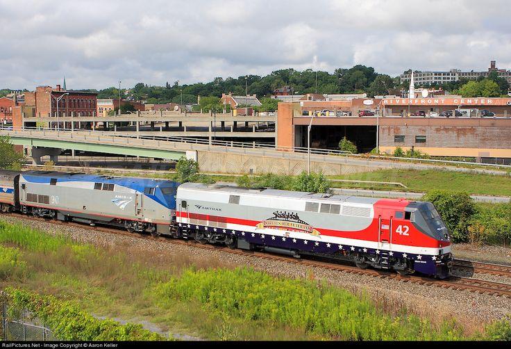 RailPictures.Net Photo: AMTK 42 Amtrak GE P42DC at Amsterdam, New York by Aaron Keller