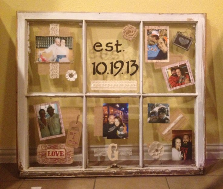Vintage Window For A Rustic Wedding Gift