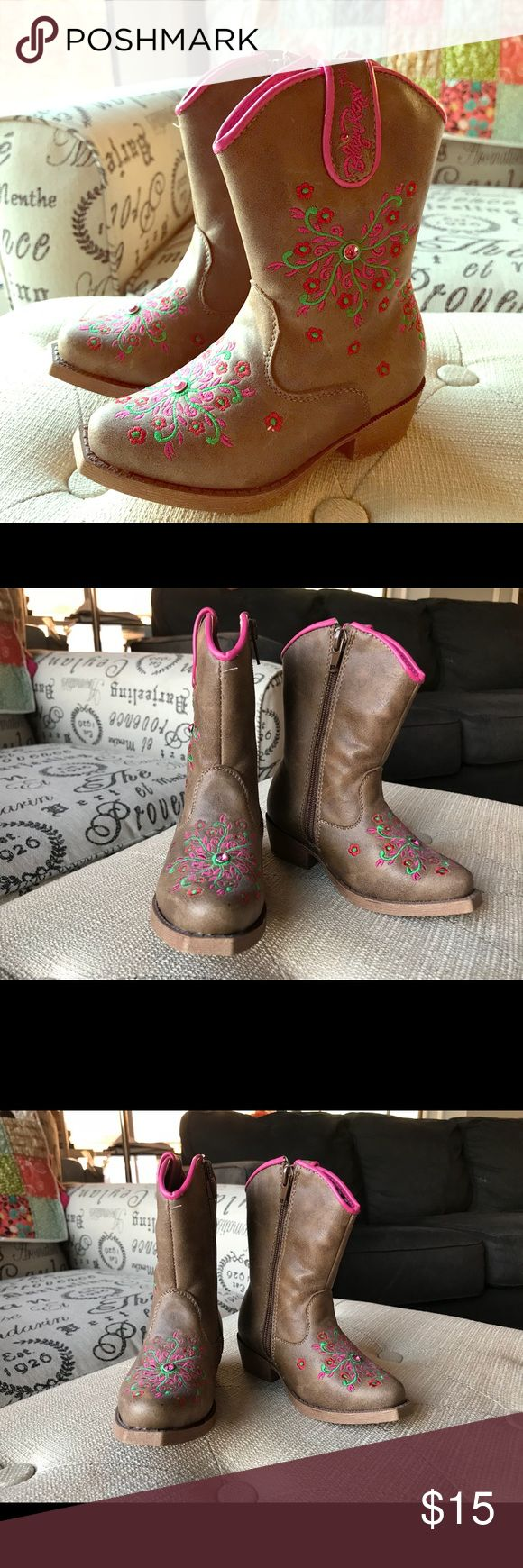 Toddler girl cowboy boots brand new Never worn new in perfect condition Shoes Boots