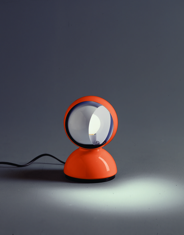 Eclisse Orange designed by Vico Magistretti (1967) http://www.artemide.us/?page=main/flypage&pageTitle=Eclisse%20photo%202&product_id=1034&layout=features