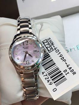 นาฬิกาข้อมือ Casio Sheen 3-Hand Analog รุ่น SHN-4019DP-4ADR นาฬิกาข้อมือสำหรับผู้หญิง สายสแตนเลสสตีล แข็งแรงทนทาน ดีไซน์สวยหรู