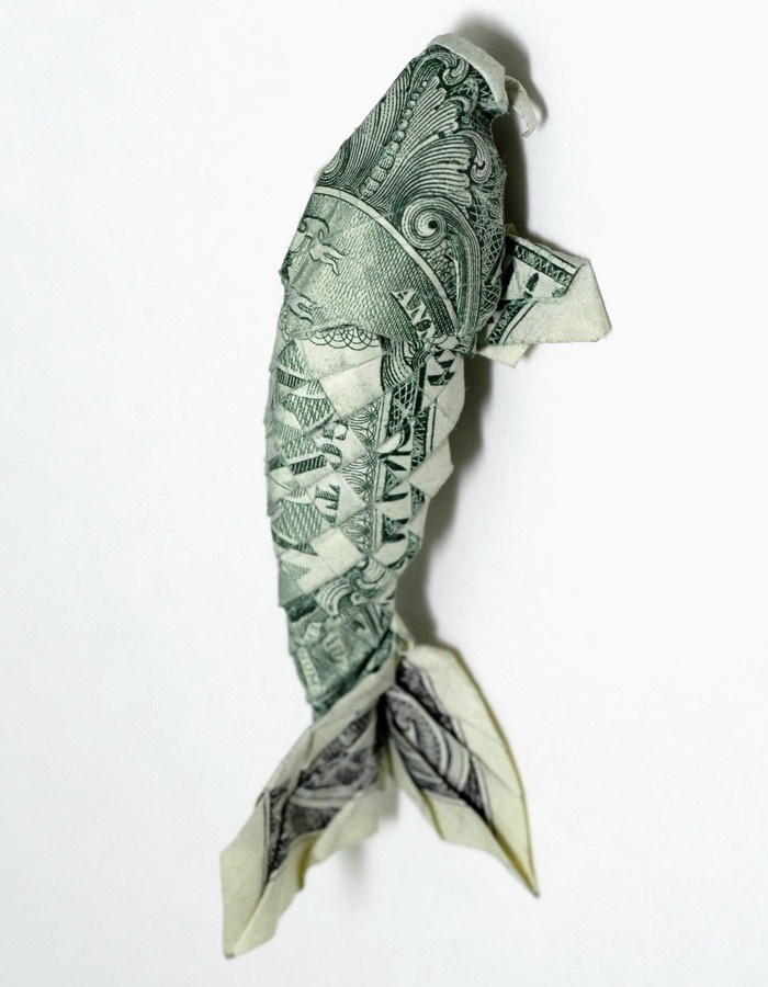 17 best images about origami on pinterest dollar bills for Origami koi fish