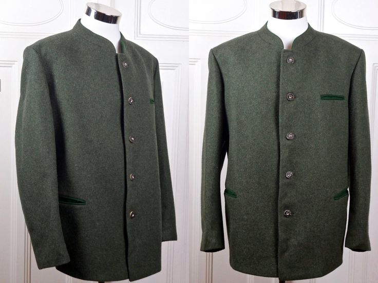 Vintage Trachten Jacket, Heather Green Bavarian Blazer w Faux Antler Buttons, Octoberfest, Austrian German Clothing: Size XXXL (50 US/UK) by YouLookAmazing on Etsy