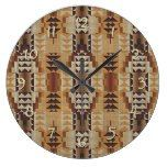 Khaki Beige Taupe Brown Eclectic Ethnic Look Large Clock  #Beige #Brown+ #Clock #Eclectic #Ethnic #Khaki #Large #Look #RusticClock #Taupe The Rustic Clock