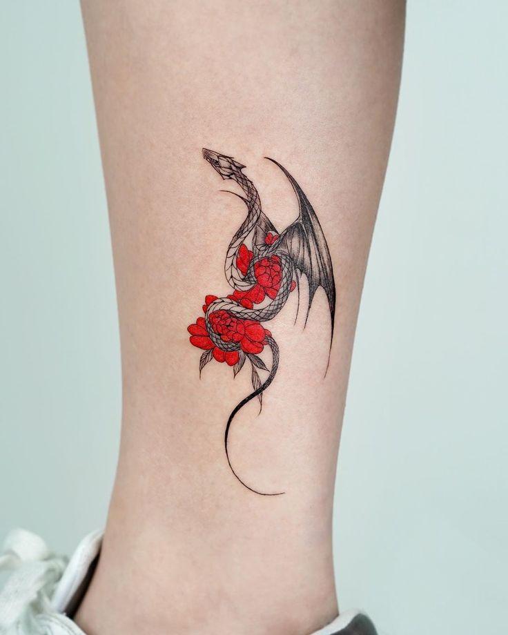 Dragon Tattoo Forearm, Blue Dragon Tattoo, Small Dragon Tattoos, Dragon Tattoo For Women, Dragon Tattoo Designs, Small Tattoos, Dragon Tattoo For Hand, Watercolor Dragon Tattoo, Dragon Sleeve Tattoos