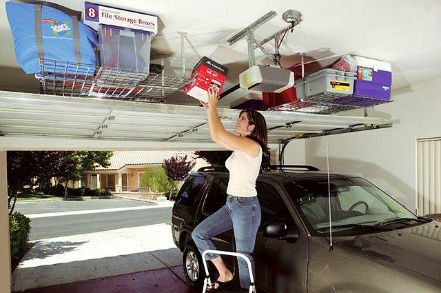 Overhead Ceiling Shelves Garage Pinterest Home