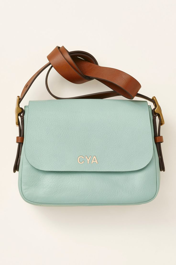 The Harper Crossbody Handbag In Seaglass Is Perfect Pop Of Fossil Emerson Satchel