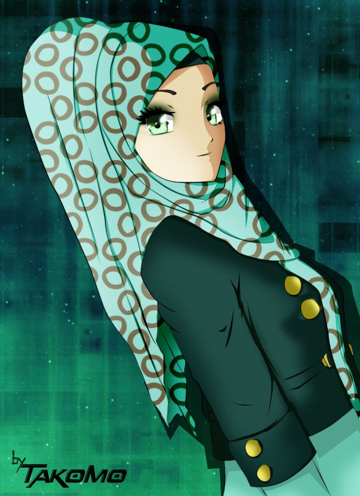 anime girl with hijab by takomoa.deviantart.com on @DeviantArt