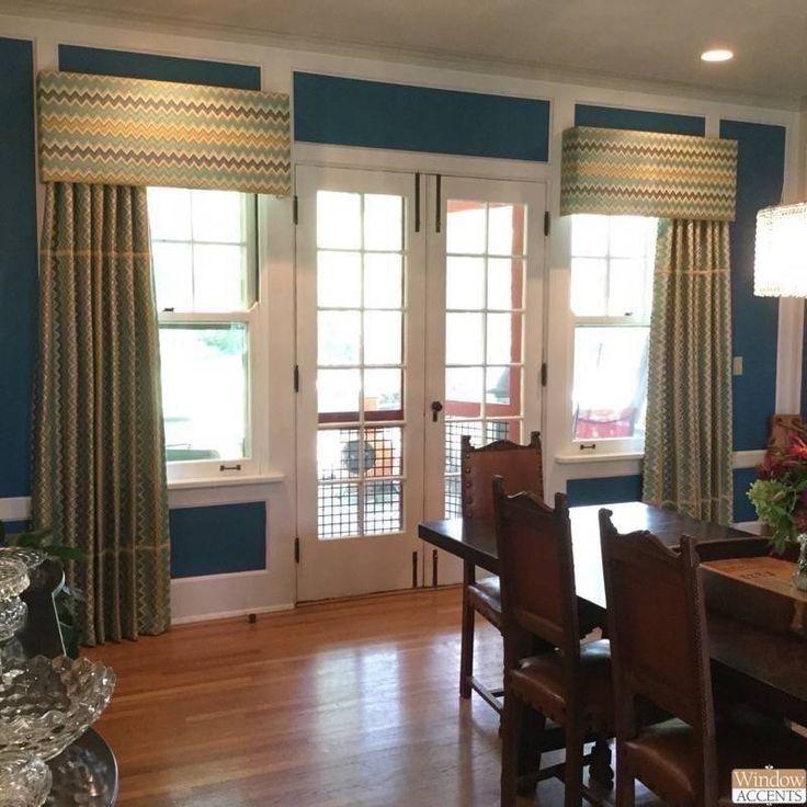 Truly Custom With An Asymmetrical Treatment Dining Room CurtainsCornicesCincinnatiWindow TreatmentsOhio