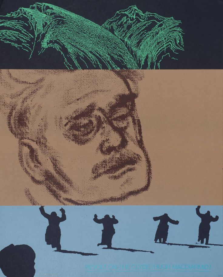 Revolt on the Clyde (Hugh McDiarmid) 1966-70  R.B. Kitaj