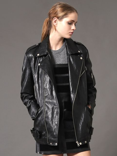 WORKWEAR - ww biker leather jacket