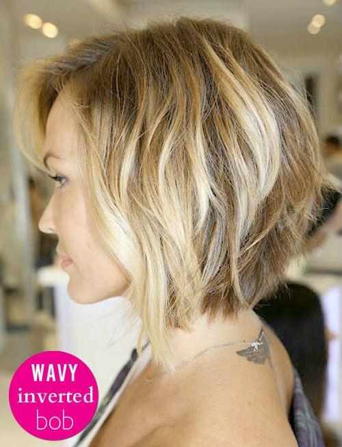 The inverted, wavy bob is becoming short hair classic! #tousledbob #haircut