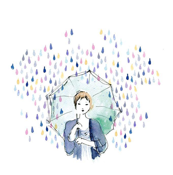 Kanazawa rain: Art Watercolor, Rain Watercolor, Capricho Travel, Rain Umbrellas, Watercolor Umbrellas, Beautiful Art, Water Colors, Hallways Art, Rain Drop