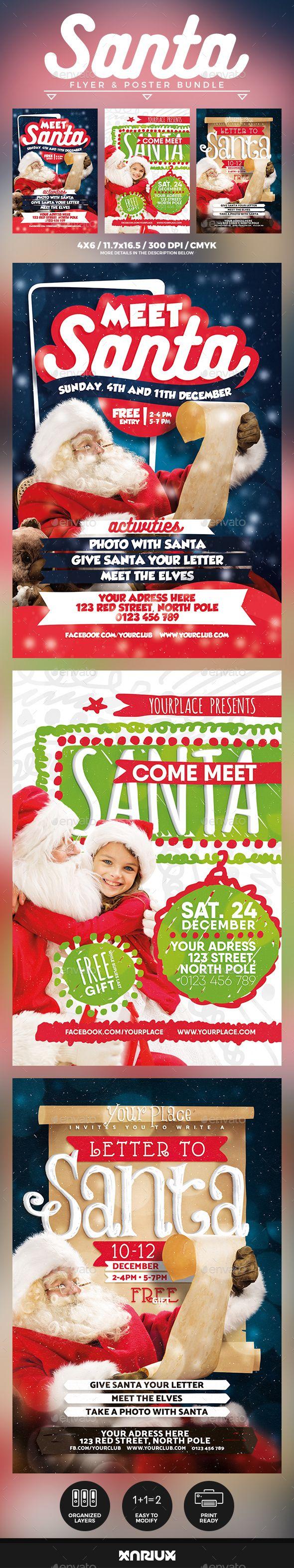 Meet Santa Flyer & Poster Bundle Template