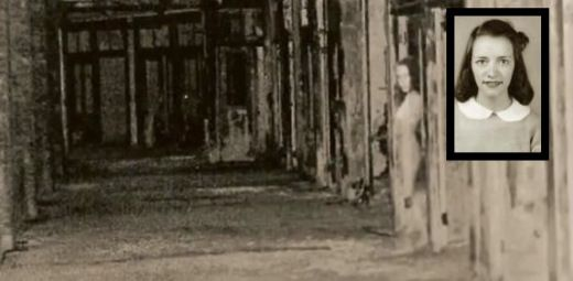 Ghost girl in Waverly Hills, Louisville, USA. This girl, a nurse who worked in the room 502, committed suicide after her boyfriend broke up with her. She was pregnant.