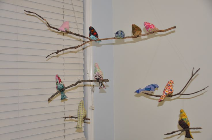 Homemade bird Mobile from old twigs!