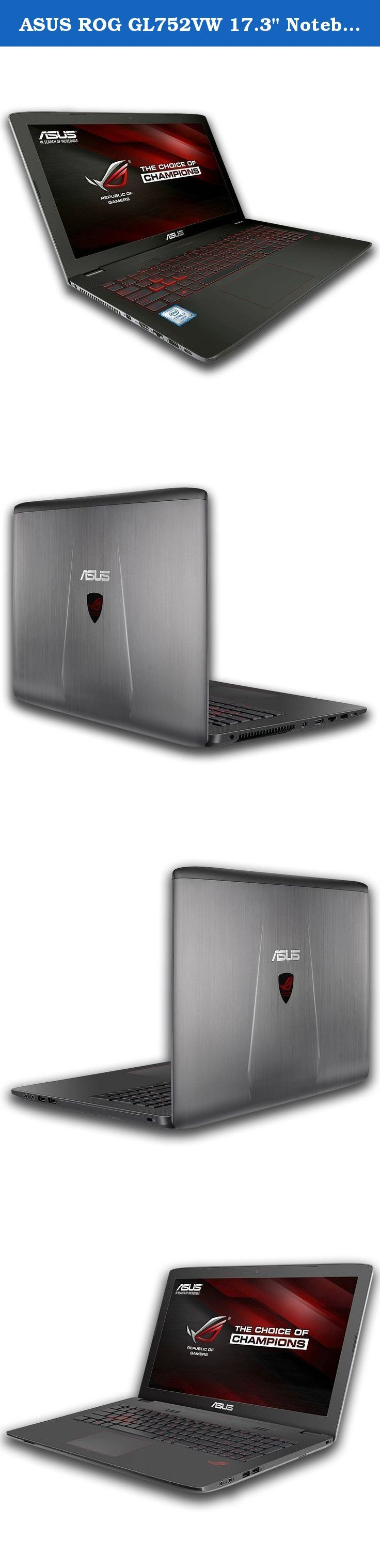 """ASUS ROG GL752VW 17.3"""" Notebook for Gamers (Intel Core Skylake i7-6700HQ, 16GB RAM, 120GB SSD + 1TB HDD, NVIDIA GTX 960M 4GB) - Best Full HD Windows 10 Gaming Laptop Computer. ASUS ROG GL752VW is powered by a 6th generation Intel Core i7 quad-core processor, with a discrete NVIDIA GTX 960 graphics card with Full DirectX 12 support. The GL752VW stays true to the Republic of Gamers line, with F-22 stealth fighter-inspired lines and angled surfaces for a dynamic and powerful stance. The…"""