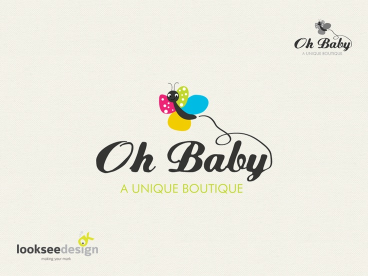 Oh Baby - creative logos for sale online - Customize with your company name in 24 hours. Find Logo online > Receive custom logo ready for print & web. #logo #logodesign #logodesigner