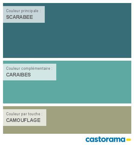 Castorama Nuancier Peinture - Mon harmonie Peinture  SCARABEE satin de COLOURS Collection