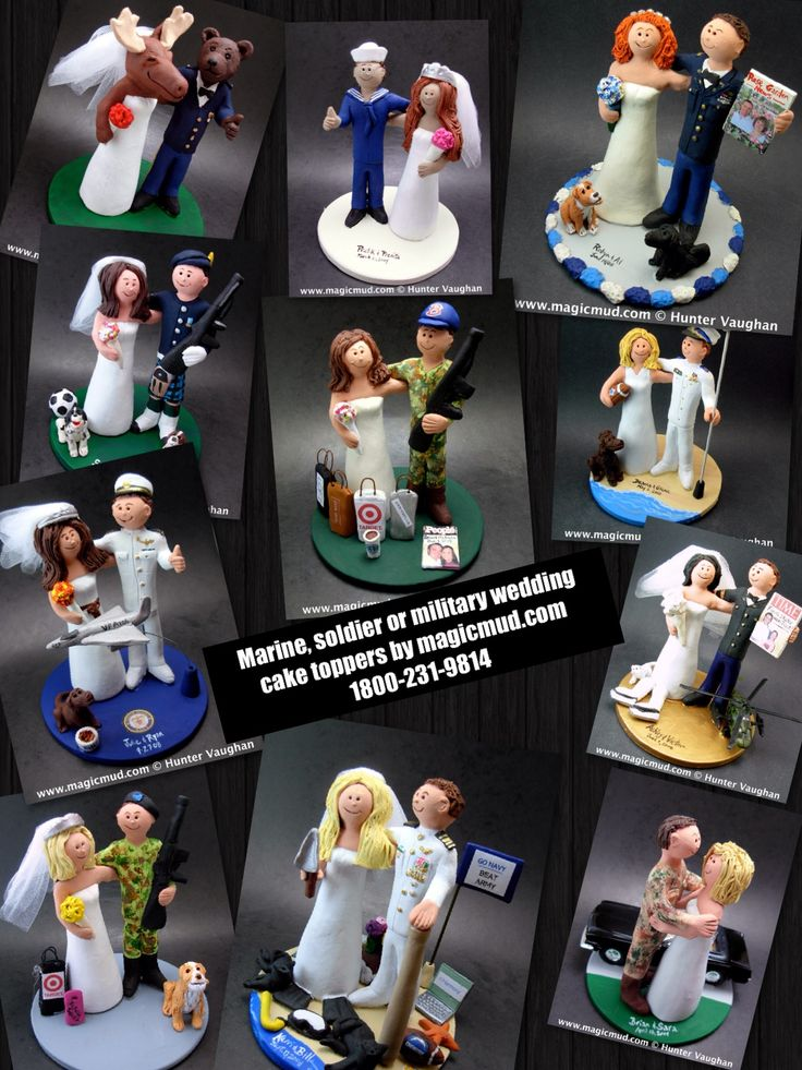 Air Force, Army, and Navy wedding cake toppers by www.magicmud.com 1 800 231 9814 magicmud@magicmud... blog.magicmud.com twitter.com/... $235 #wedding #cake #toppers #custom #personalized #Groom #bride #anniversary #birthday #weddingcaketoppers #cake-toppers #figurine #military #soldier #marine #army #air force #navy #gift #wedding-cake-toppers http://custom-wedding-cake-toppers.tumblr.com/ http://instagram.com/weddingcaketoppers https://www.facebook.com/PersonalizedWeddingCakeToppers…