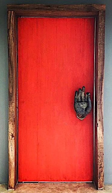 Red door, Phuket, Thailand