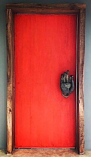 Red door, Phuket, Thailand