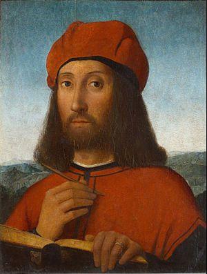Antonello de Saliba, Portrait of a Man, late 15thC, Moscow, Pushkin Museum. The painter was Antonello da Messina's nephew.