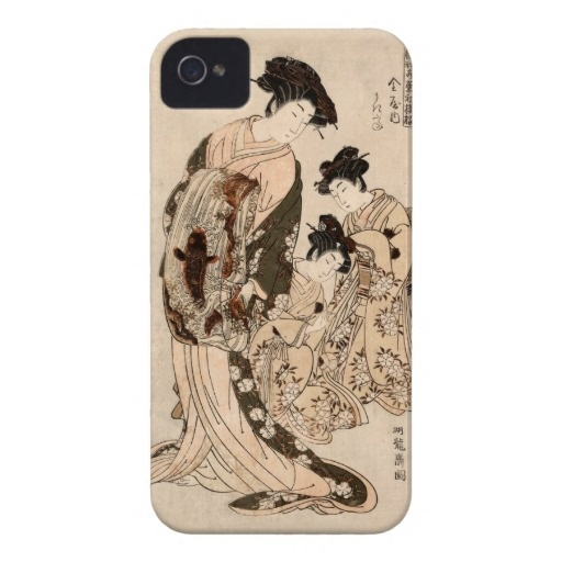 Japanese women iPhone 4 Case-Mate case