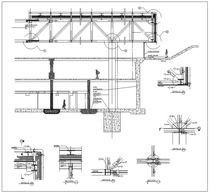 Steel Structure Details V5 – CAD Design | Free CAD Blocks,Drawings,Details
