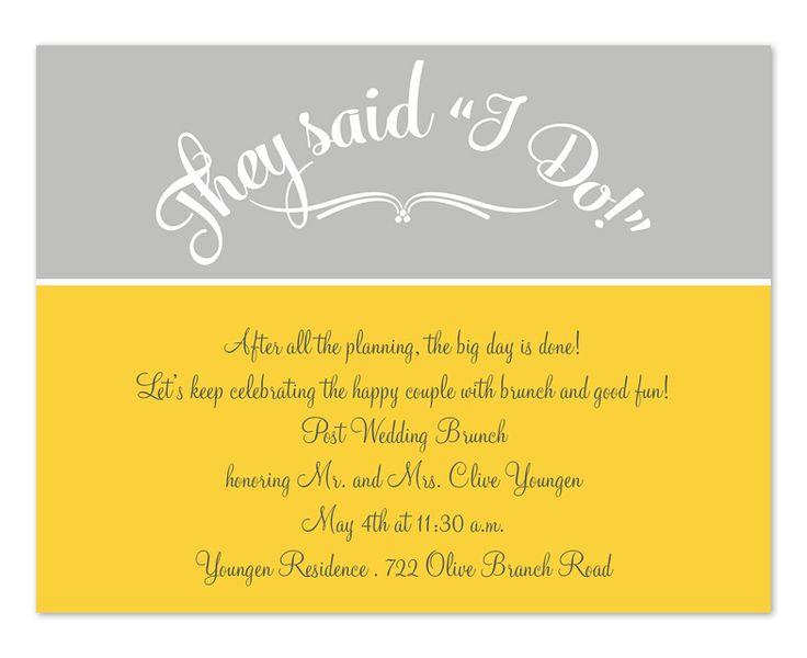 After Wedding Invitation Wording: 21 Best Images About Wedding Brunch Invite On Pinterest