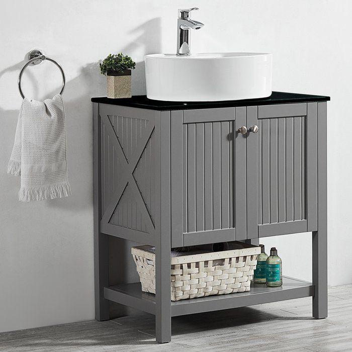 Beachcrest Home Naccarato 28 Single Bathroom Vanity Set Wayfair Single Bathroom Vanity Bathroom Vanity Vanity Set