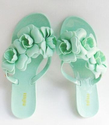 Ladies Spring Sandals,Women's Flat Shoes 2014 Summer Beach Slippers with Flowers,Fashion Streetwear Jelly Color Flip Flops-in Women's Sandals from Shoes on Aliexpress.com | Alibaba Group