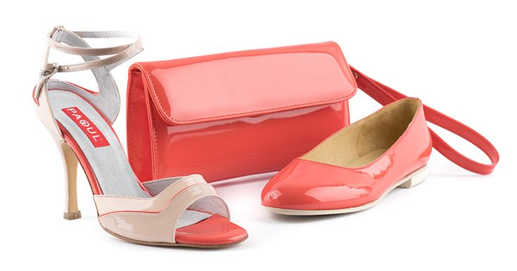 #CORAL kit: sandal, flash court and pochette  #argentiniantango #wedding #gala #ceremony #Paoul #danceshoes #shoes