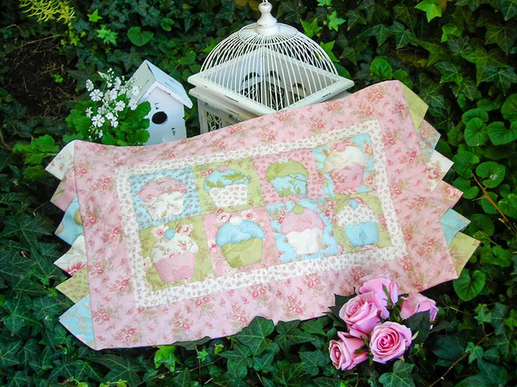 """""""My Little Patty"""" by Sally Giblin of The Rivendale Collection. Finished table runner size: 30"""" x 16½""""  #TheRivendaleCollection stitchery, appliqué and patchwork patterns. www.therivendalecollection.com.au"""