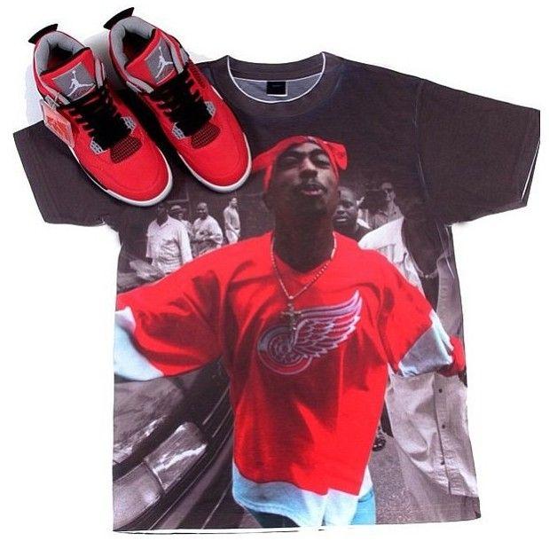 Air jordan 4 fire red toro outfits pinterest air for Kicks on fire t shirt
