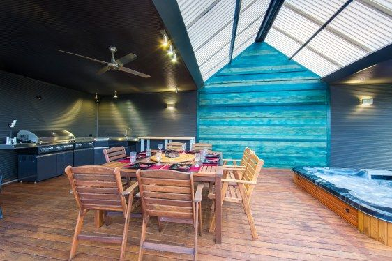 Indigo Real Estate - 559 Flatrock Road, Beechworth, Huge Outdoor Room with Merbau Decking, Timber Feature Wall, Large Glass Sliding Doors and Magnificent Views