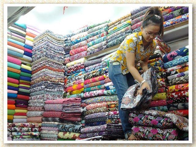 Jari Manis : Travel List: Ho Chi Minh : Memborong kain PART 2