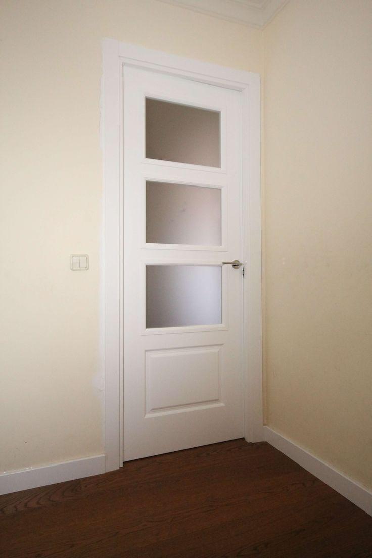 Las puertas lacadas en blanco son ltima tendencia y for Puertas y parquet